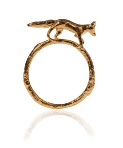 ALEX MONROE GOLD-PLATED PROWLING FOX RING http://goo.gl/8TIGr8