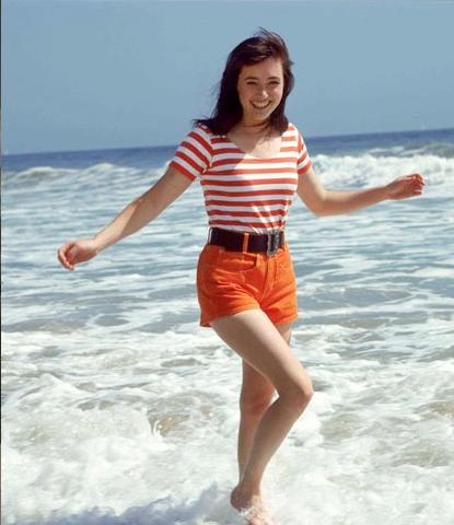 Brenda in Stripes From 90210 Beverly Hills
