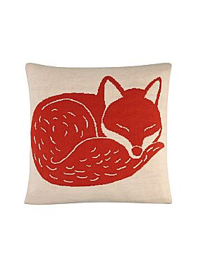 LINEA Mr Fox Knitted Cushion http://goo.gl/9K2X0w