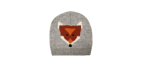 New Look Grey Fox Face Beanie http://goo.gl/U1QiC0