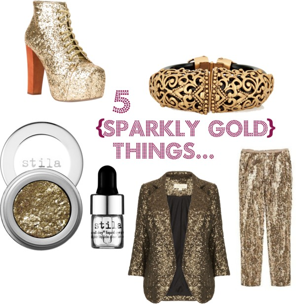 5 {Sparkly Gold} Things...