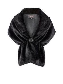 ALEXON Black Fur Stole http://bit.ly/JGCROM
