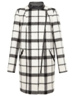 Autograph Checked Biker Coat with Wool http://goo.gl/Kv230b