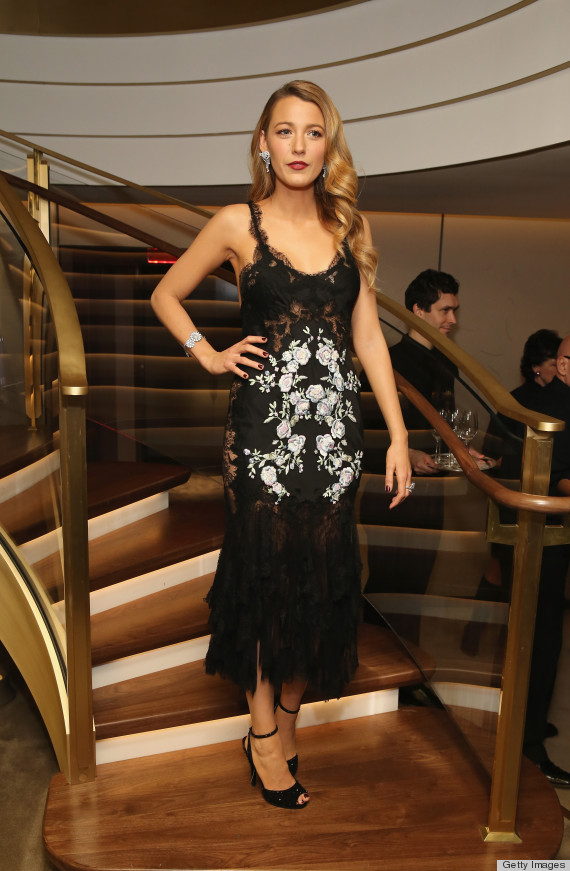 Blake Lively in Marchesa Flapper Style