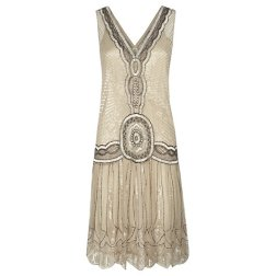 Jigsaw Sequin Flapper Dress, Oyster http://bit.ly/JGaKiE