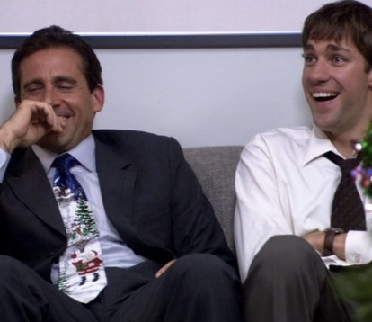 Jim and Michael The Office Benihana Christmas