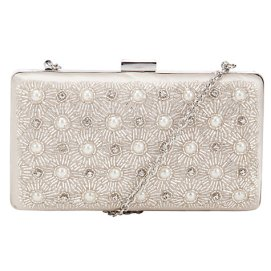 John Lewis Toni Embellished Clutch Handbag, Ivory http://bit.ly/19Cddla