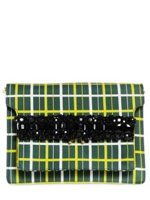 MARNI CHECK PRINTED SATIN COTTON SHOULDER BAG http://goo.gl/mxmNIZ