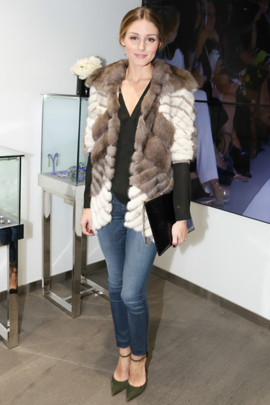 Olivia Palermo at Dennis Basso's flagship grand opening