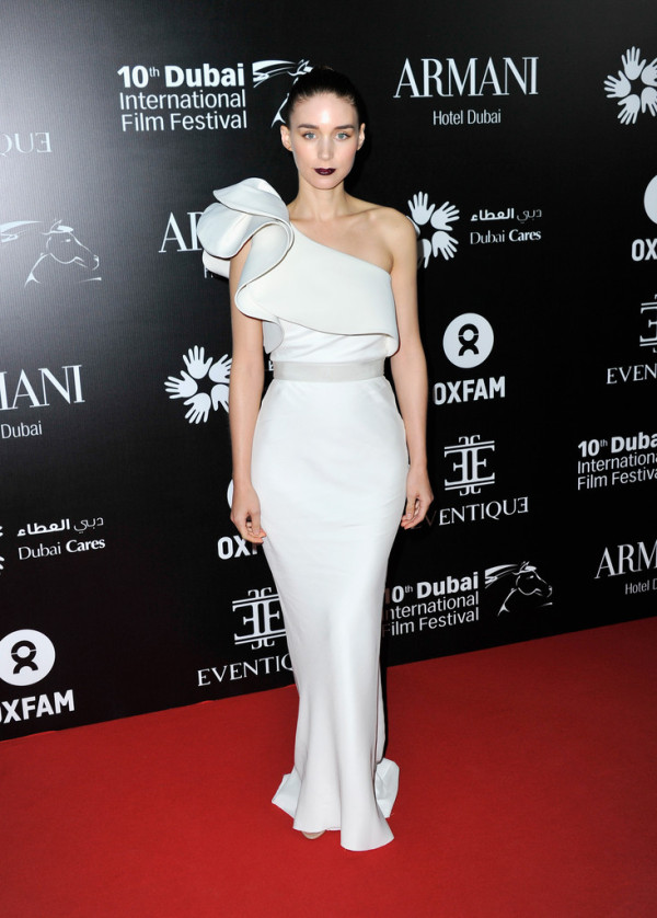 Rooney Mara in Lanvin Gown at the Oxfam Charity Dubai International Film Festival