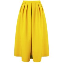 Antonio Marras Yellow Wool Midi Skirt tiny.cc/7t9p9w