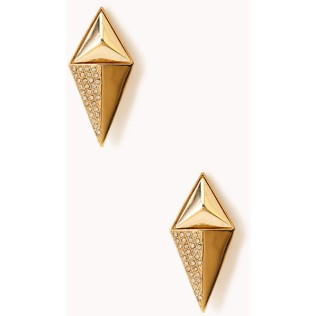 Forever 21 Pretty-Tough Spike Earrings $4.80 {tiny.cc/3bw49w}