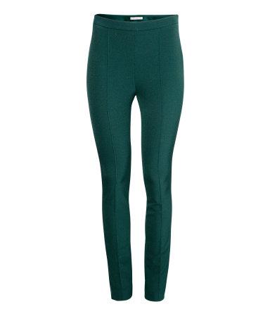 H&M Narrow Emerald Green Trousers $31.00 {tiny.cc/n5v49w}