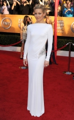 Kate Hudson: Kate stood out {in a good way} in white and long sleeves, and looked incredible in this Pucci gown at the 2009 SAG Awards. {Photo: Steve Granitz/Getty Images}