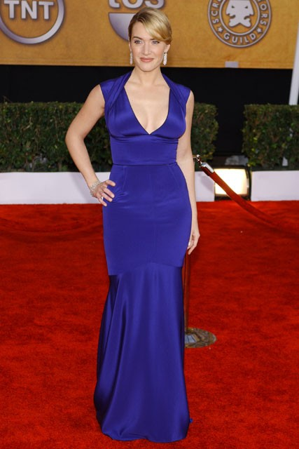 Kate Winslet: Looked like a goddess in this cobalt-blue Narciso Rodriguez gown in 2009.