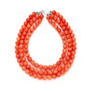 Kluster Chunky Orange Jade Necklace