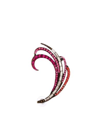 Asos Love Rocks Swirl Rhinestone Ear Cuff