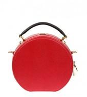 DOLCE & GABBANA Red Leather Anna Bag