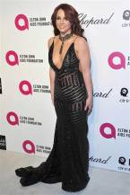 Britney Spears in Michael Costello Couture {Elton John AIDS Foundation Academy Awards Viewing Party}