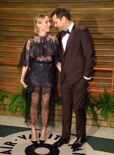 Diane Kruger {in Valentino} + Joshua Jackson {in Berluti} at the 2014 Vanity Fair Oscar Party hosted by Graydon Carter