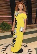 Diane von Furstenberg in one of her own designs {Vanity Fair Oscar Party}
