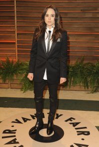 Ellen Page in Saint Laurent by Hedi Sliman {Vanity Fair Oscar Party}