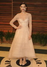 Emmy Rossum in Monique Lhuillier {Vanity Fair Oscar Party}