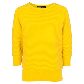 French Connection Mozart Jumper, Bright Citronella