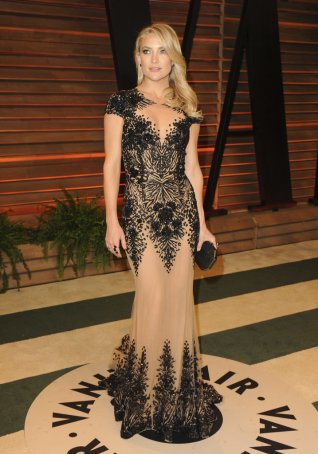 Kate Hudson in Versace {2014 Vanity Fair Oscar Party hosted by Graydon Carter}