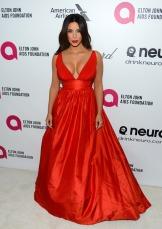 Kim Kardashian in Celia Kritharioti {Elton John's Party}