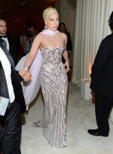 Lady Gaga in Versace {22nd Annual Elton John AIDS Foundation's Oscar Viewing Party}