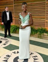 Lupita Nyong'o in Miu Miu {Vanity Fair Oscar Party}
