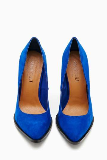 Nasty Gal Shoe Cult Edge Pump - Cobalt