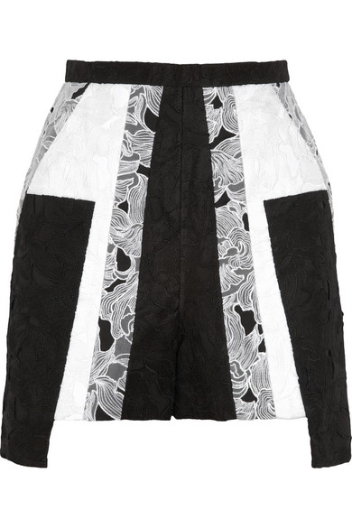 PETER PILOTTO Cate embroidered cotton and silk-blend shorts