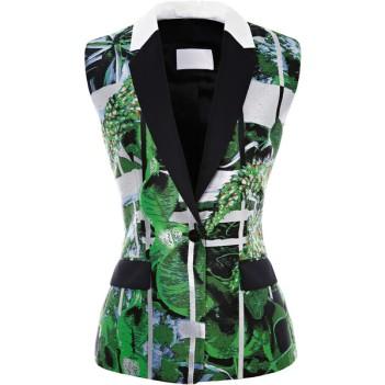 PETER PILOTTO Ikebana-Printed Jacquard Vest
