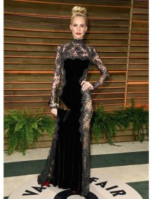 Poppy Delevingne wearing Dolce & Gabbana {2014 Vanity Fair Oscar Party}