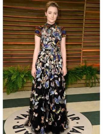 Saoirse Ronan wearing Valentino dress from the Pre-Fall 14:15 collection {2014 Vanity Fair Oscar Party}