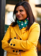 Mindy must have a separate closet just for her statement coats! {'Dijon My Mind' coat from ModCloth} http://goo.gl/TsNozt {Echo Design Women's Polka Dot Wrapping Scarf, Bottle Green} http://goo.gl/2URzxx