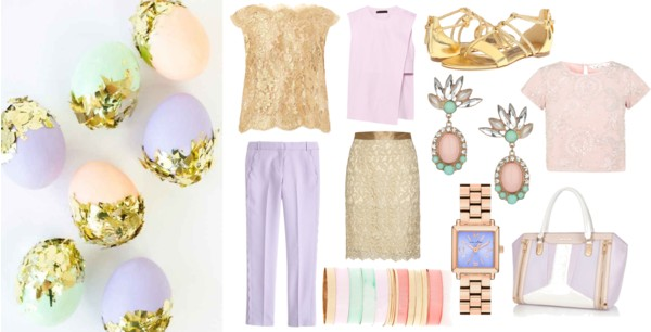 Pastel + Metallic Gold