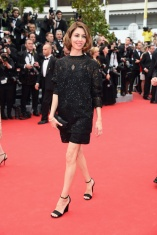 Sofia Coppola in Valentino Pre-Fall:Winter 2014-2015 and Chopard jewelry