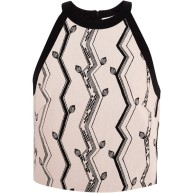 3.1 PHILLIP LIM Cut-In Crop Top In Pink And Black