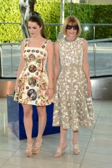 Bee Shaffer, Anna Wintour - Bee wears dress by Dolce & Gabbana; jewels by Irene Neuwirth. Anna wears dress by Michael Kors.