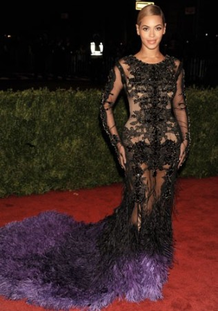 BEYONCÉ In a Givenchy Haute Couture gown at the Costume Institute Gala Benefit in 2012.