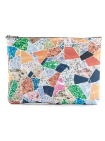 CARVEN collage make-up bag