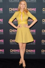 Blake Lively wore a dress from the Gucci autumn/winter 2014 collection at the Chime For Change anniversary party, New York - June 2 2014