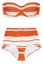 BATHINGSUIT | Dolce & Gabbana Striped Bandeau Bikini, $660; net-a-porter.com