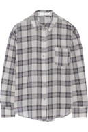 ELIZABETH AND JAMES Carine plaid voile shirt