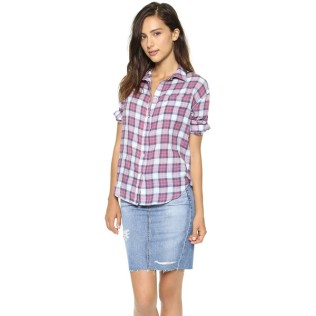 ELIZABETH AND JAMES Carrine Shirt in Berry