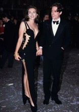 ELIZABETH HURLEY In a Versace dress at the premiere of Four Weddings and a Funeral in London in 1994