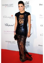 EVA LONGORIA In Y Anina gown at the Global Gift Gala in Paris in 2013.